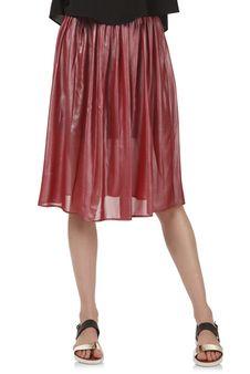 Women Red Skirt