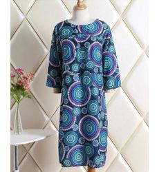 Leisure Geometric Print Princess Cut Dress - Ships in 24hrs