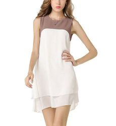 Elegant Contrast color Dress - Ships in 24hrs