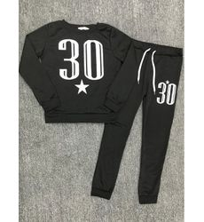 Naughty Thirty Black Active Wear Top & Pant set - Ships in 24 hrs