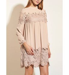 Crew Neck Pleated Babydoll Dress - Ships in 24 hrs