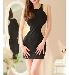 Color Block Slim Look Dress - Ships in 24 hrs