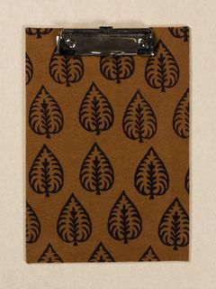 Mustard Block Print Fabric ClipBoard