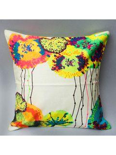 Digital Printed Cushion Cover - Multicolor 16 x 16 Inch