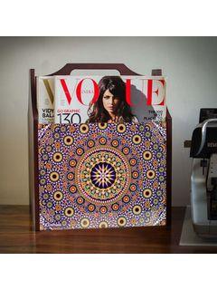 Madhubani Print Wooden Magazine Stand