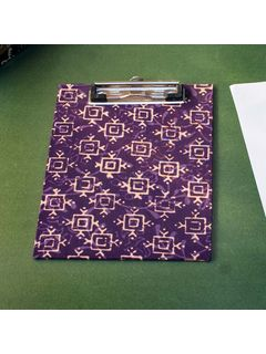 Purple Printed Fabric Cover Dafti Small - 9 x 6.5 Inch