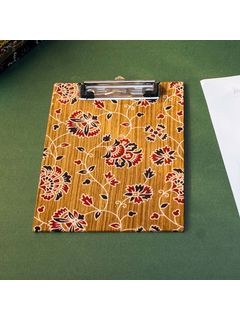 Olive Printed Fabric Cover Dafti Small - 9 x 6.5 Inch