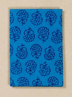 Cobalt Blue Block Print Fabric Passport Holder