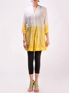 Yellow - White  Cotton Top