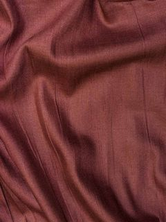 Brown Red Cotton Silk Fabric