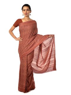 Blush Ikat Saree