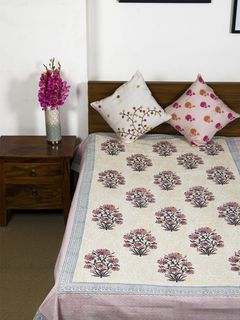 Mahuya Single Bedsheet with Pillow Cover
