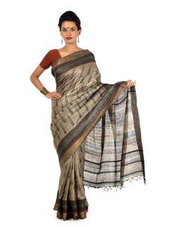 Zyama Tussar Silk Saree