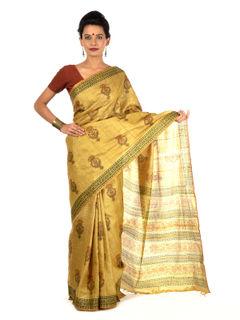 Pigala Tussar Silk Saree