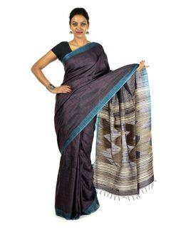 Nilanjana Tussar Silk Saree