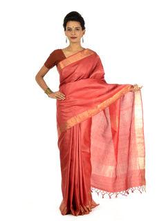 Alapadma Tussar Silk Saree