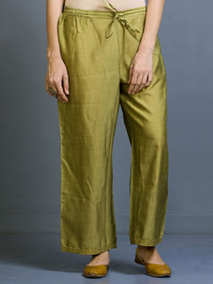 Shajara Chanderi Straight Fit Trousers