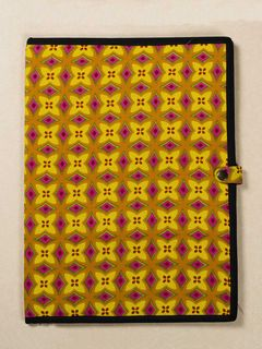Yellow Block Print Fabric Folder