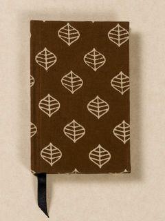 Brown Block Print Fabric Note Book