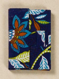 Multicolour Block Print Fabric Card Holder