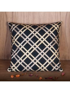 Zehreen Black Stripe Cushion