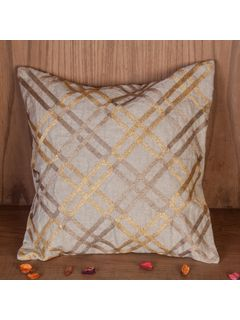 Zehreen Beige Stripe Cushion