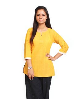 Moringa Yellow short Kurti