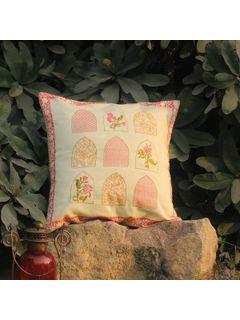 Rose Pink Kuhar Zari cushion