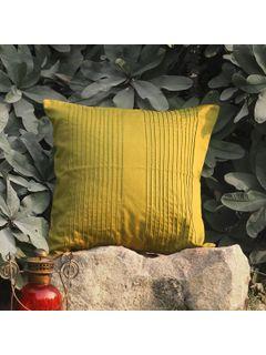 Khaki Pintuck Accent cushion