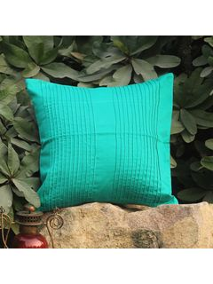 Turqouise Pintuck Accent cushion