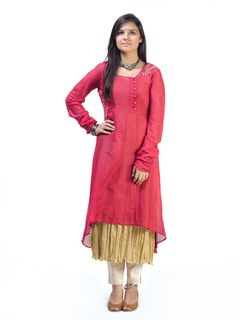 Coral Gold Double-layered Tunic