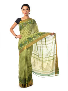 Aku Mangalagiri Cotton Saree