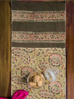 Cerise Paisley Kalamkari Table Runner