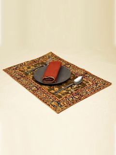 Olive Celia Kalamkari Table Mat