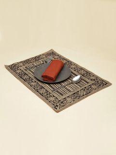 Slate Paisley Kalamkari Table Mat