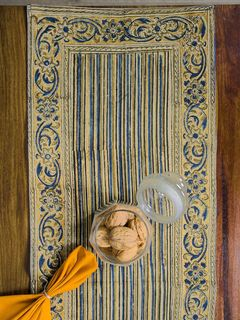 Risna Stripes Kalamkari Table Runner