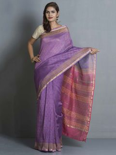 Violet Chanderi Saree
