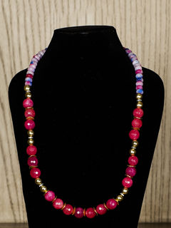 Red Semiprecious Stone Necklace
