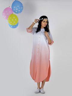Cantaloupe Ombre Shirt Dress