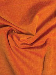 Orange Mangalgiri Cotton Fabric