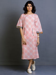 Flamingo Mist Cotton Dress