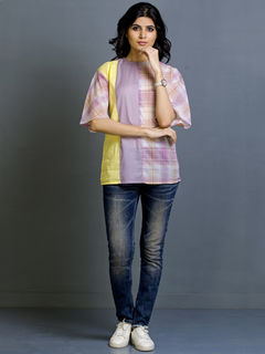 Lemon Heather Cotton Top