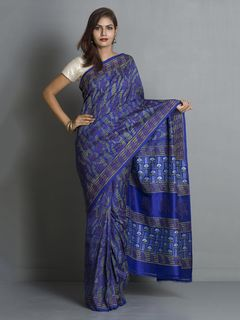 Blue Pure Silk Saree