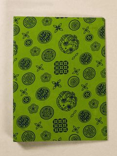 Green Block Print Fabric Ring File