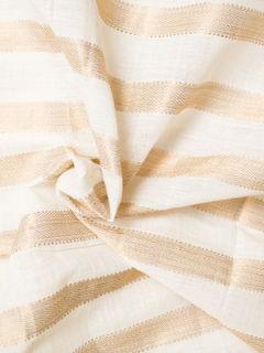 White and Gold Mangalgiri Cotton Fabric