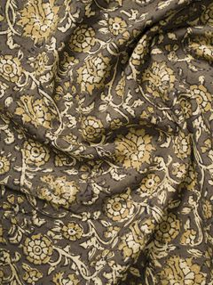 Olive Green Ajrak Block Print Cotton Fabric