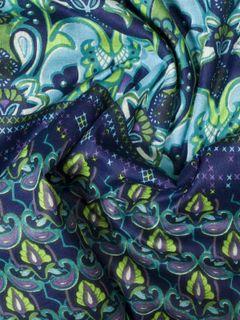 Blue Block Print Cotton Fabric