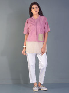 Coconut Crepe block shirt