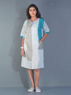 Sapphire line block tunic