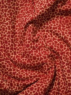 Red Ajrak Block Print Cotton Fabric